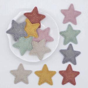 50pcs Cartoon Star Cloth Patches Decorative Craft Sewing Kids Cloths Apparel