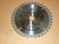 HM  Kreissägeblatt BGS 160 x16/20 x 2,4  mm 36 Zähne Holz, PVC Sägeblatt