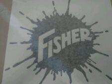 FISHER MINUTE MOUNT SNOW PLOW SPLATTER DECAL