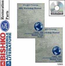 2001 Ford F650 - F750 Truck Shop Service Repair Manual CD Engine Drivetrain