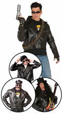 Disfraz Piel Sintética Hombre Chaqueta Biker Grande Fonze Negan Terminator Negan