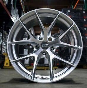 """19"""" ESR RF2 Hyper Silver Wheels 19x8.5 +30 5x120 19 Inch Rims Set 4"""