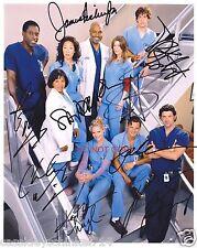 """Grey's Anatomy TV show 11x14"""" Reprint Original Cast Signed Poster Photo RP ABC"""