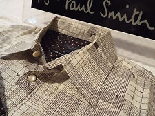 "PAUL SMITH Mens Shirt 🌍 Size M (CHEST 40"") 🌎 RRP £95+📮 WESTERN HANDRAWN CHECK"