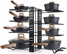 Kitchen Pots Rack Organizer Pans Holder Kitchen Cabinet Pantry Pot Lid 3 Methods