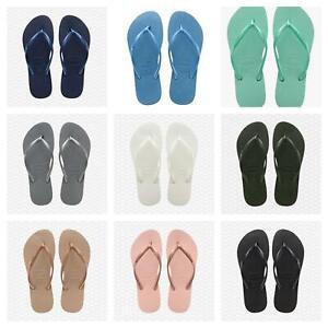 Womens Ladies Colors Havianas slim Brazilian Style Flip flops beach sandals UK