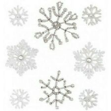 SNOW WINTER Snowflakes Flakes Crystals Pearls Flake Jolee's Stickers Scrapbook