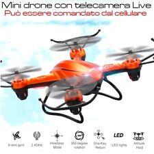 Mini drone con videocamera Live quadricottero economico con telecamera