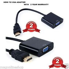 Black  Terabyte Hdmi To Vga Converter Adapter Port Cable Device Switch Socket
