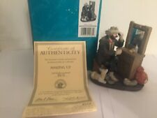 Emmett Kelly Jr Miniature The Signature Collection Making Up 3517 Certificate