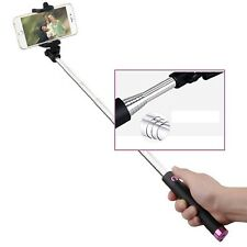Purple Wired Foldable Mini Selfie Stick Monopod Holder For HTC Smartphones