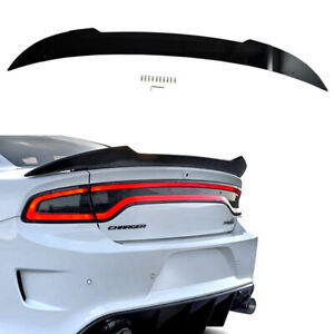 Decklid Spoiler Fits 2015-2020 Dodge Charger SRT Hellcat Black Flap Wicker Bill