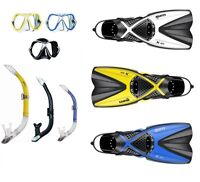 Mares X-One Snorkel Set with Mares X-Vision SIZE 35-47 Various Colours abc-set