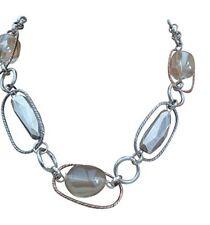 - giratevi fatti a mano collana d'argento con cristalli SWAROVSKI ciondolo £ 8.99