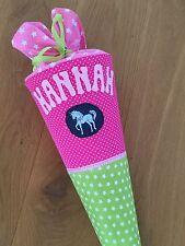 Schultüte Husse Stoff Pferd Handmade Name Wunschmotiv Einhorn Sterne