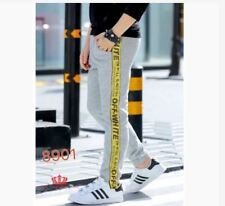 OFF WHITE JOGGER PANTS FIT UP TO CL #8901 (LH) - GRAY/YELLOW