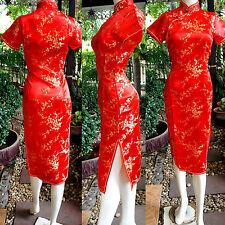 Asia Miss China/Japan Qipao/Geisha-Kleid/Kostüm Cheongsam Rot Gr.34,36,38,40,42