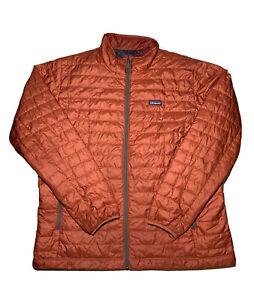 Patagonia Mens Nano Puff Jacket sz 2XL Orange GUC!