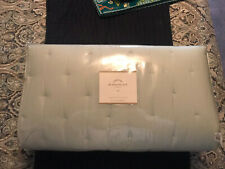 New - Pottery Barn Pick Stitch Handcrafted Quilt Twin Porcelain Blue
