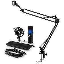 auna MIC-900B-LED USB Mikrofonset V3 Kondensatormikrofon + Mikrofonarm Niere LED