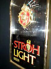 Vintage Stroh's Beer motion Lighted sign Prestige bar Sign
