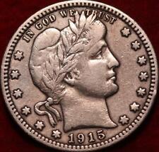 1915 Philadelphia Mint Silver Barber Quarter