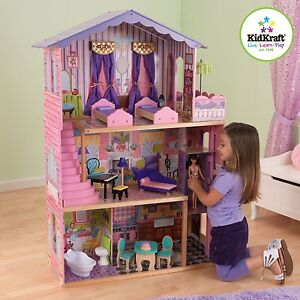 Kidkraft My Dream Mansion | Wooden Dollhouse with Lift fits Barbie Sized Dolls