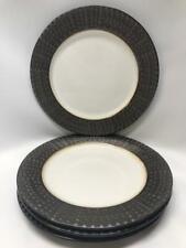 Mikasa Gourmet Basics Metropolitan Metallic Set Of 4 Dinner Plates