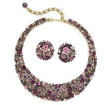 "Heidi Daus ""Fantasy in Flight"" Crystal Necklace and Earrings - AMETHYST"