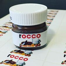 Personalised Nutella Jar Gloss Label Sticker Favours 25g - 36 to a sheet