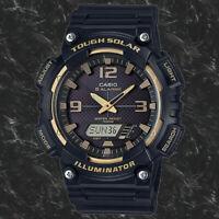 Casio Model SOLAR POWER World Time 5 Alarms 100m Watch AQ-S810W-1A3 New
