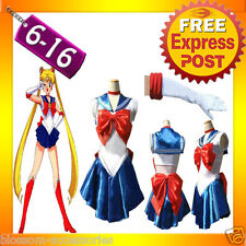 G33 Sailor Moon Costume Cosplay Uniform Fancy Dress Up Sailormoon Outfit & Glove