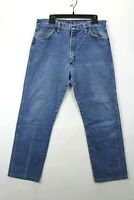 Vtg 80s Wrangler Mens 32x30 Med Wash 13MWZ Cowboy Cut Faded Worn Denim Jeans