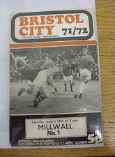 14/08/1971 Bristol City v Millwall  (Excellent Condition)