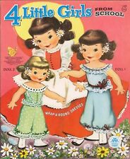 VINTAGE 1954 4 GIRLS SCHOOL PAPER DOLL LASER REPRODUCTION~UNCUT~LO PR~TOP SELLER
