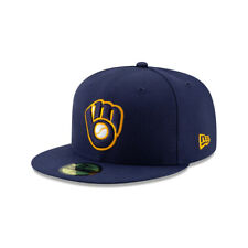 Milwaukee Brewers MLB New Era Authentic Collection ALT 2 59FIFTY Fitted Hat-Blue