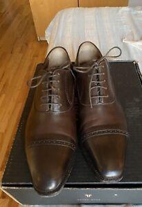 Meccariello dark chestnut brown oxfords 11 US - GUARANTEED AUTHENTIC