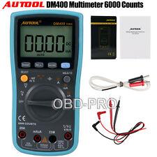 DM400 TRMS Digital Multimeter 6000 Counts AC DC Temperature Measurement Tool