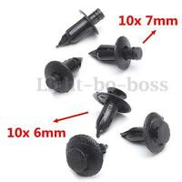 20x Motorcycle Plastic Fairing Panel Fastener Rivet Clips 6mm and 7mm For Suzuki