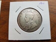 * 1911* Canada  * Silver * 50 cents *