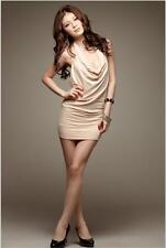 C001/C044 Hot Korean Sexy Lady Strapless Sequined Sundress Hip Dress Halter Tops