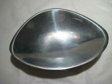 """Nambe Handcrafted Metalware Aluminum Nut Bowl 573 ~ 7.75"""" X 5.5"""" X 1.5"""" H ~ Usa"""