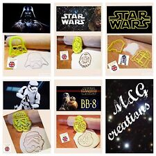R2d2 Chewbacca Darth Vader Storm Trooper Bb8 Cake Decor Star Wars Cookie Cutter