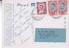 1963 Thailand #283,#357(2) on Post Card, Bangkok Airport to Los Angeles Ca *d