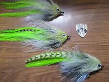 3 V Fly Size 1/0 HDD Ultimate Alphonse Big Eye Mullet Baitfish Saltwater Flies