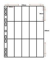 More details for 100 x polypropylene a4 cigarette card sleeves for multi master - 15 pocket