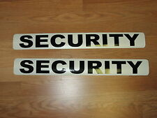 "2 SECURITY Magnetic Signs 3""x24"" Police Constable Sheriff 1 Pair 4 Car Truck SUV"