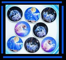8 BEAUTIFUL MYSTICAL UNICORNS GIRLS KIDS DRESSER DRAWER KNOBS MADE AS ORDERED