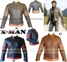 X-MEN WOLVERINE STYLE MENS FASHION HIGH QUALITY LEATHER JACKET IN 4 COLOURS