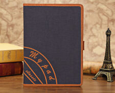 Jeans New Design HQ PU Leather Case Cover Stand print iPad i Pad Air 5